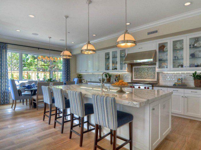 Comment meubler votre cuisine semi-ouverte? | Cuisine semi ouverte ...