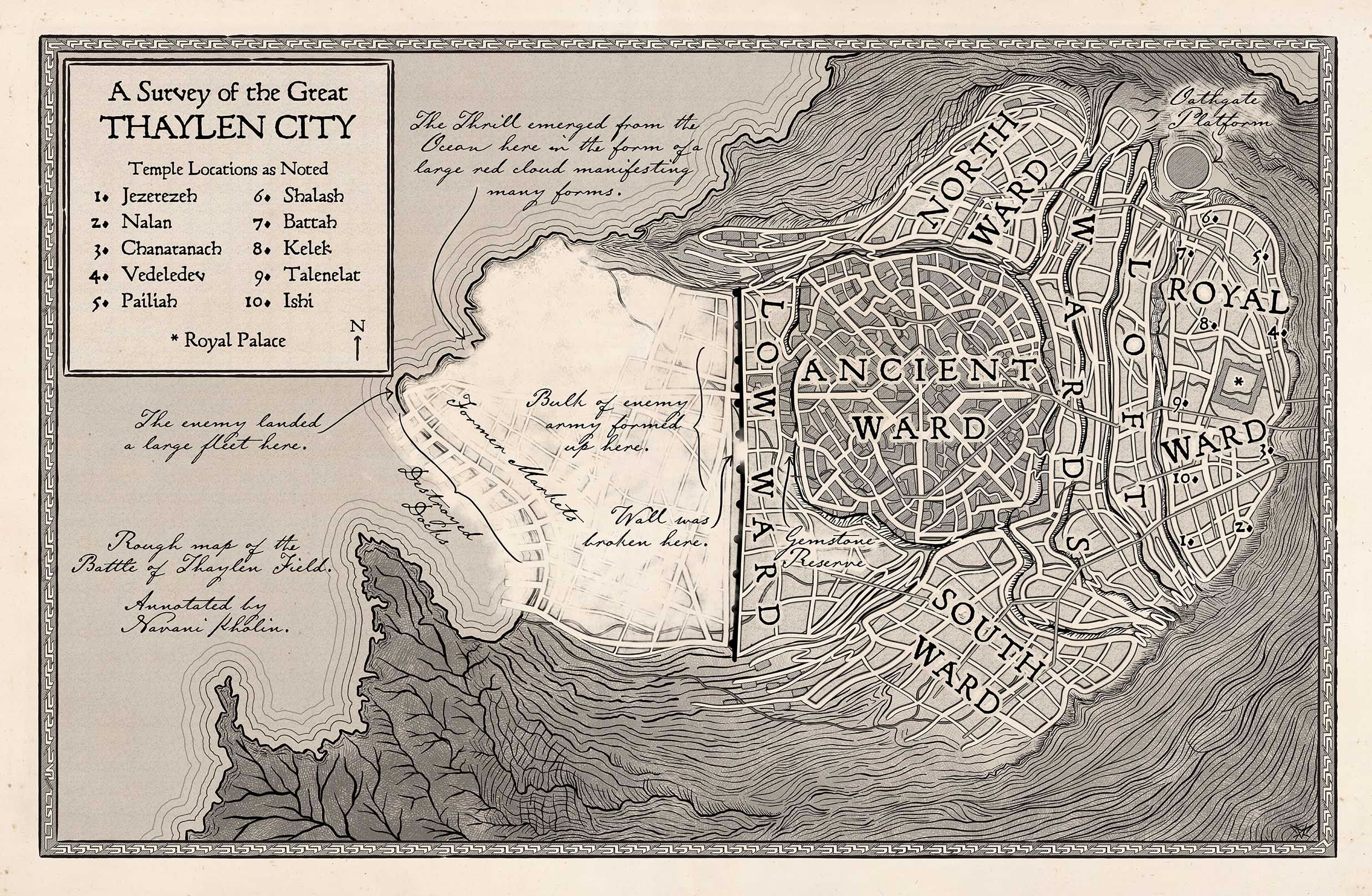 stormlight archive world map Map Of Thaylen City Stormlight Archive Fantasy Map Art Gallery