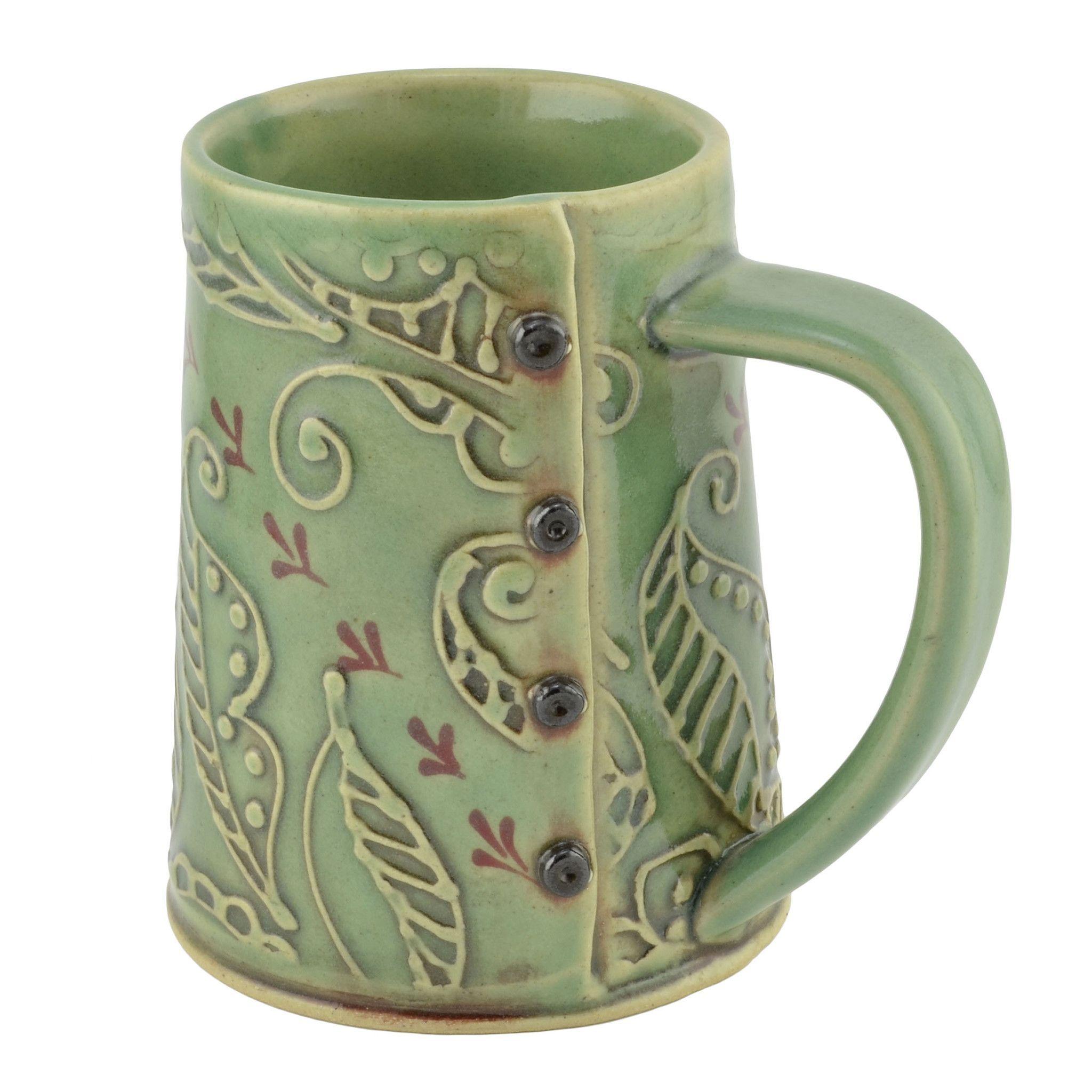 Creative with clay hand built coffee mug hand built