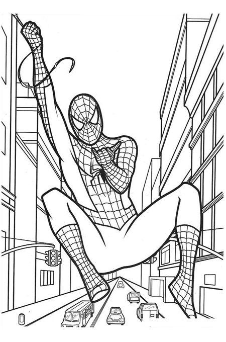 صورة شخصية سبايدر مان للتلوين Superhero Coloring Pages Birthday Coloring Pages Spiderman Coloring