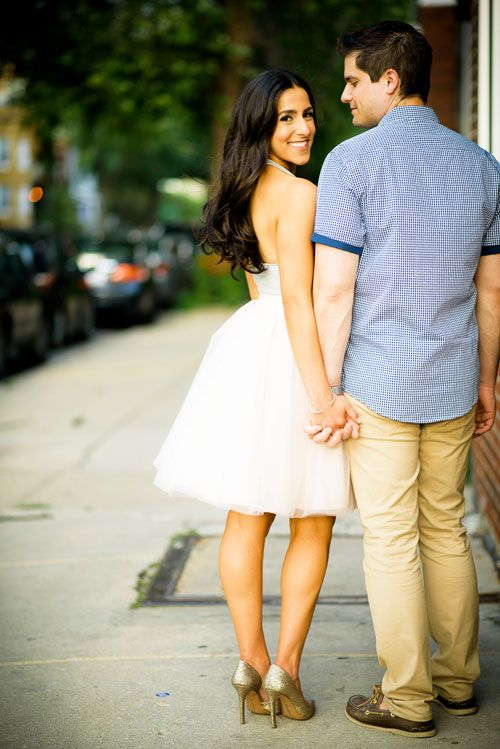 Chicago Wedding Photographer | J. Brown Photography  Roscoe Village Chicago engagement session.
