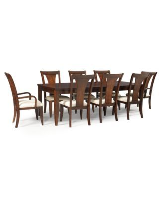 Metropolitan Contemporary 9Piece Dining Table 6 Side Chairs & 2 Extraordinary 2 Piece Dining Room Set Inspiration