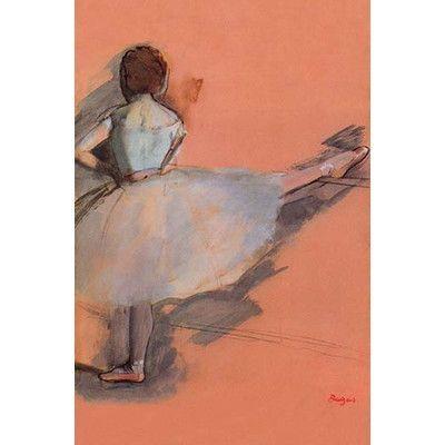 "Buyenlarge 'Ballet Dancer' by Edward Degas Painting Print Size: 66"" H x 44"" W"