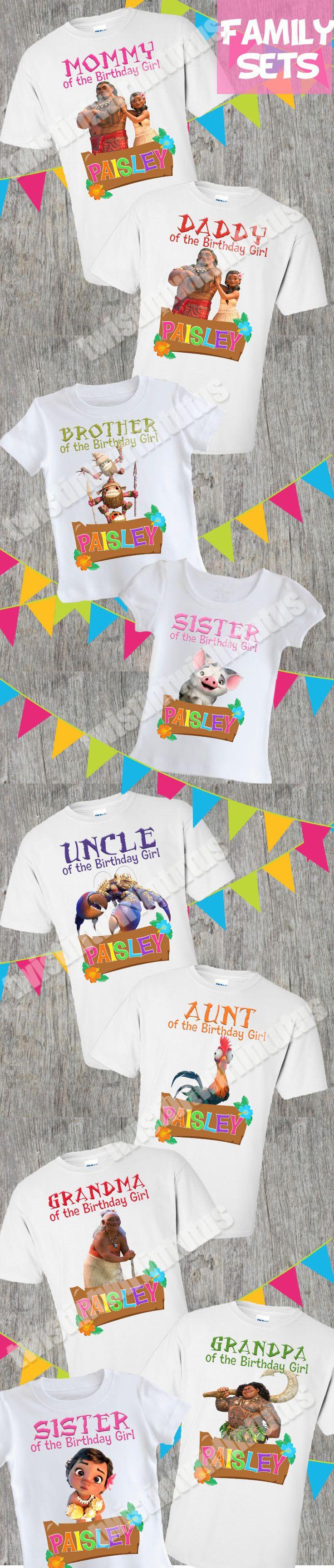 d53310ef Moana Family Birthday Shirts | Moana Birthday Shirt | Moana Birthday Party  Ideas | Moana Family Shirts | Birthday Ideas for Girls | Twistin Twirlin  Tutus # ...