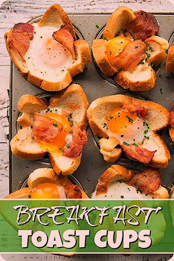 These Toast Cups are loaded with Bacon, Beans, Sausage and Egg – The perfect handheld Full Englis