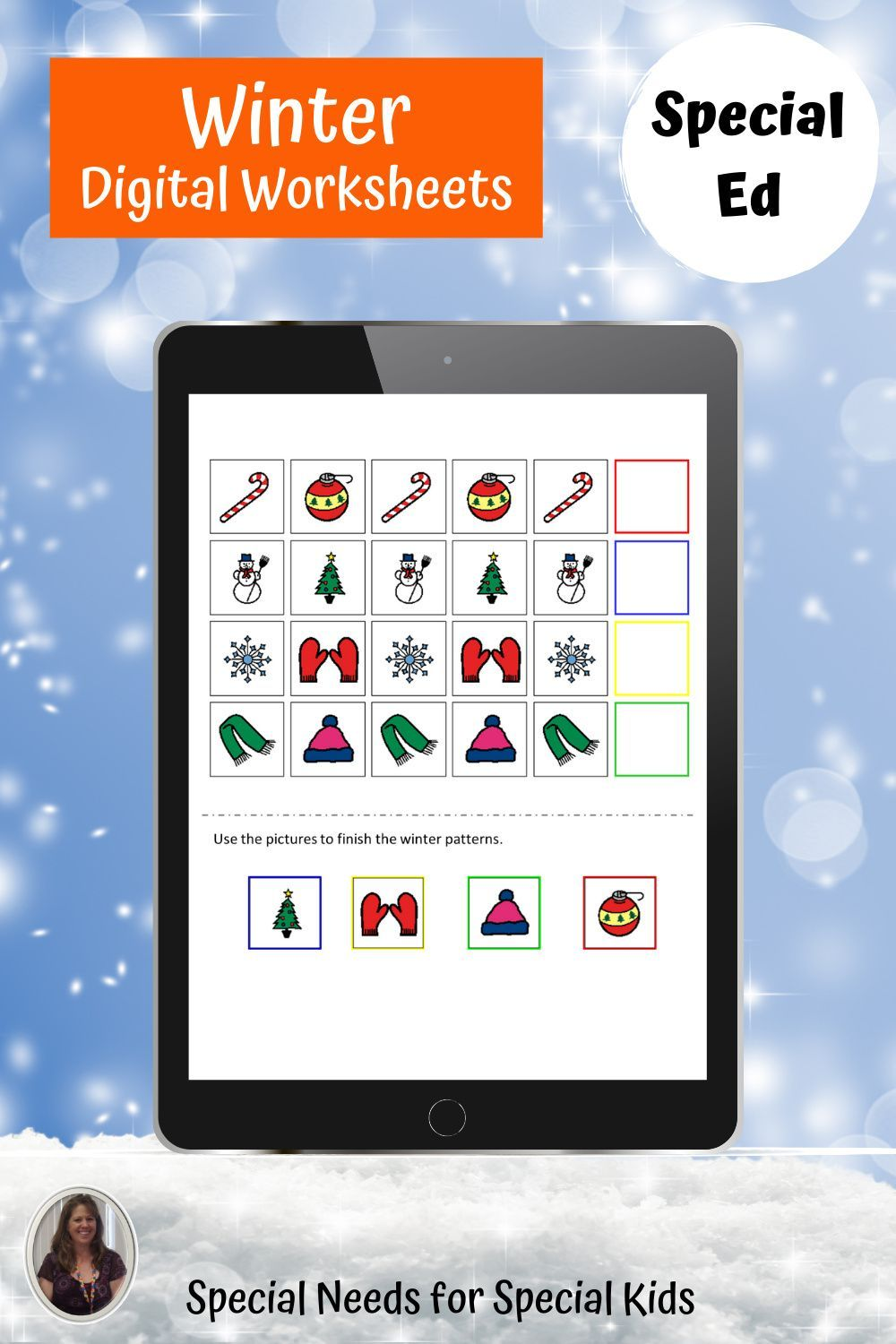 Winter Digital Worksheets For Special Education Distance Le In 2021 Elementary Special Education Activities Special Education Activities Special Education Elementary [ 1500 x 1000 Pixel ]