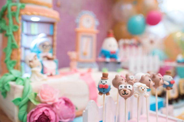 Nursery Rhyme Cake Pops From A Clic Birthday Party On Kara S Ideas Karaspartyideas 20