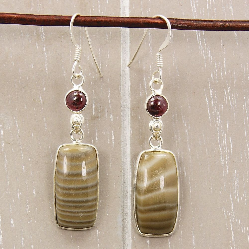 Nature's Treasure Willow Creek Jasper & Sterling Silver Earring