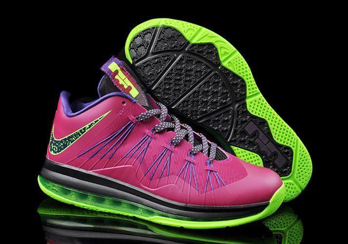 Hot Sale Cheap Nike Air Max Lebron X Low Fireberry Electric