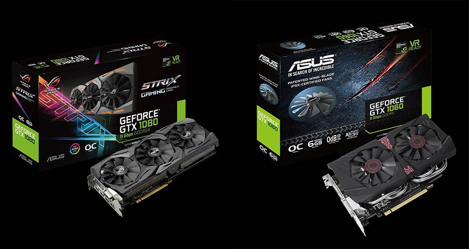 Asus Unveils Revised Gtx 1080 Strix And Gtx 1060 6gb Strix With Faster Memory Asus Graphic Card Memories