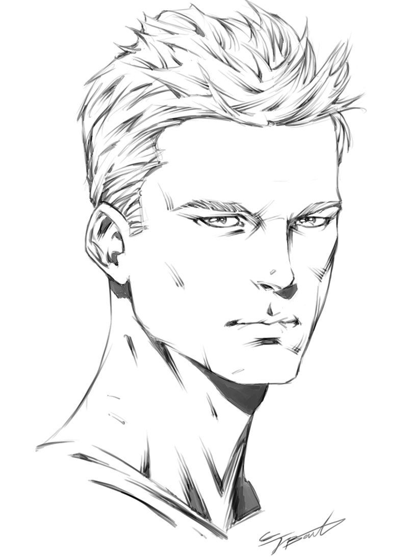 How To Draw The 3 4 View Of The Male Head In 2020 Comic Drawing Drawing Superheroes Cartoon Drawings Sketches