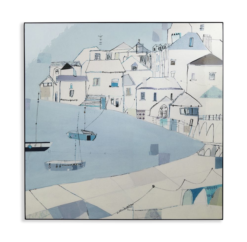 Harbour Side By Arthouse Blue Art 004326 Wall Art Pictures
