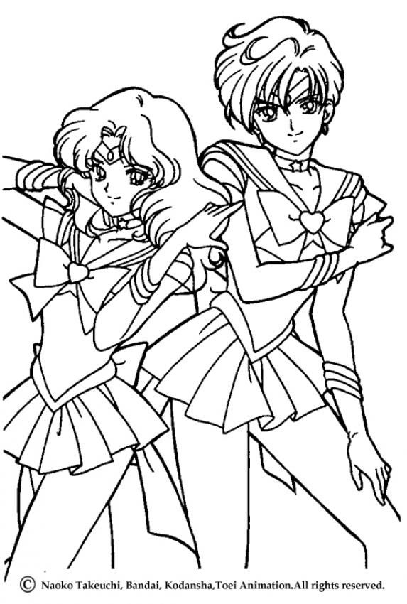 Beautiful Sailor Moon warriors coloring page for kids of all ages ...