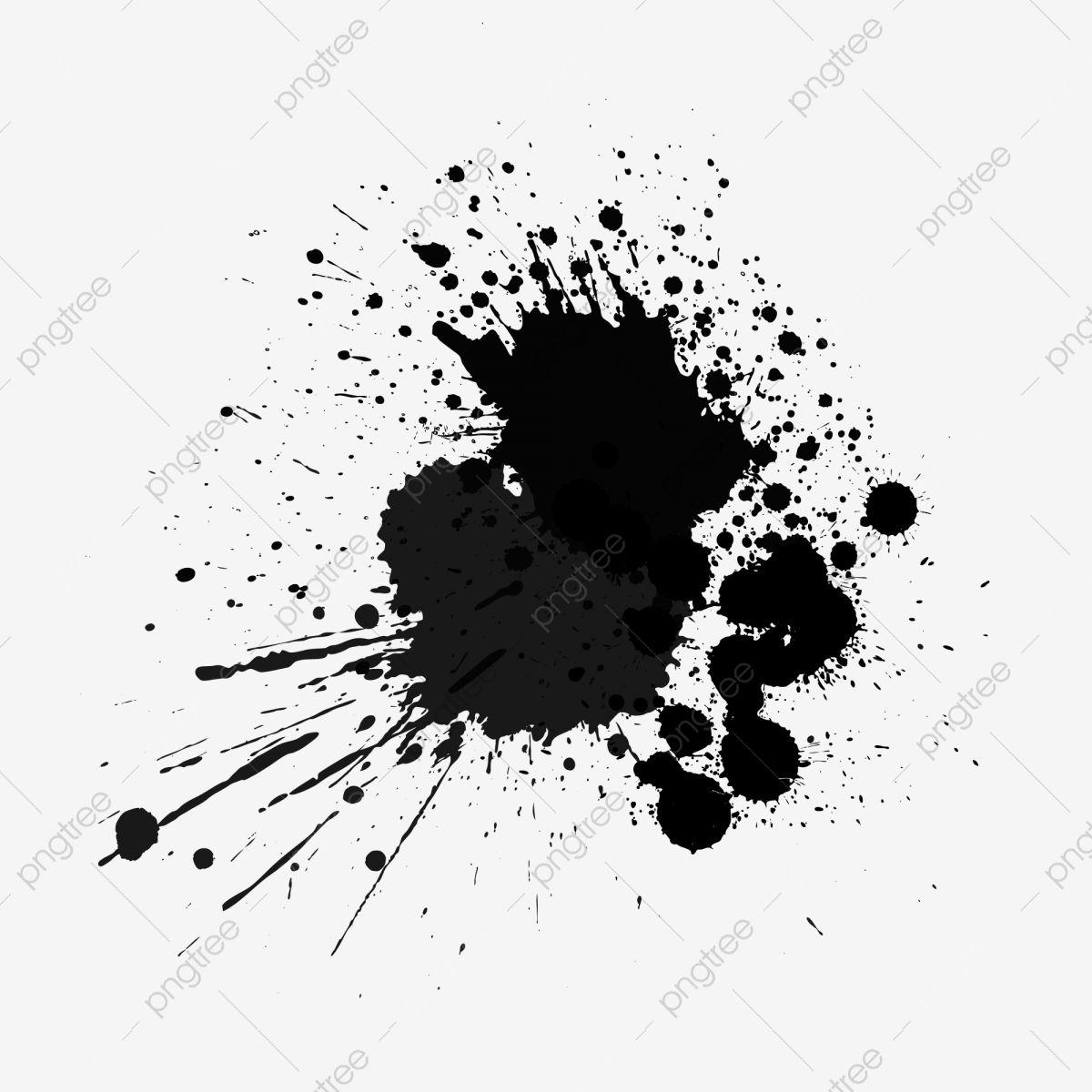 Vector Black Splash Ink Dot Element Black Splash Ink Ink Png And Vector With Transparent Background For Free Download Splash Images Black Splash Black Color Images