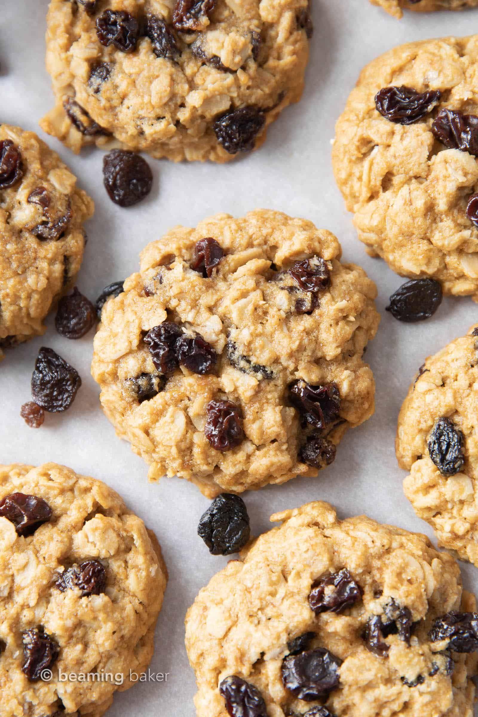 Easy gluten free vegan oatmeal raisin cookies vegan