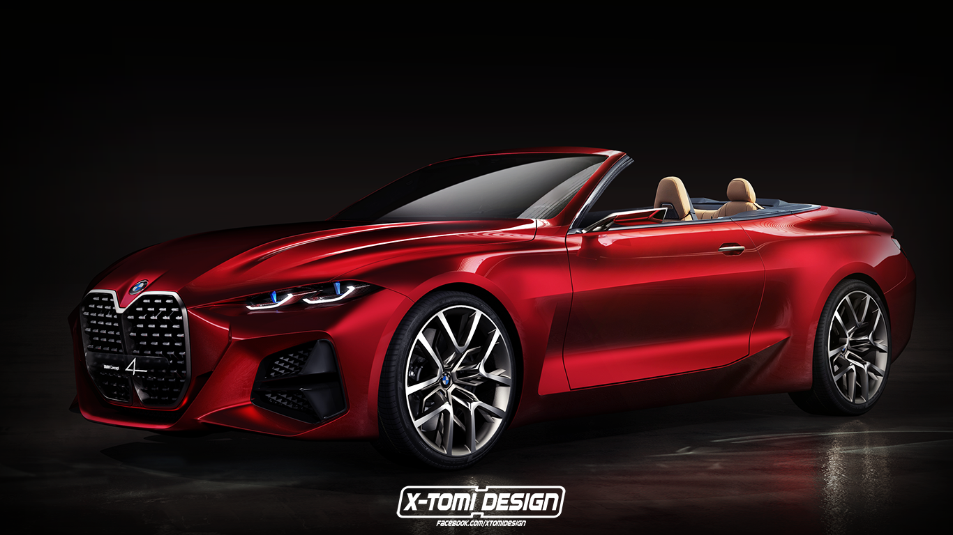 New Bmw 4 Series Convertible Rendered Based On The Bmw Concept 4 Bmw Concept Bmw Bmw 4