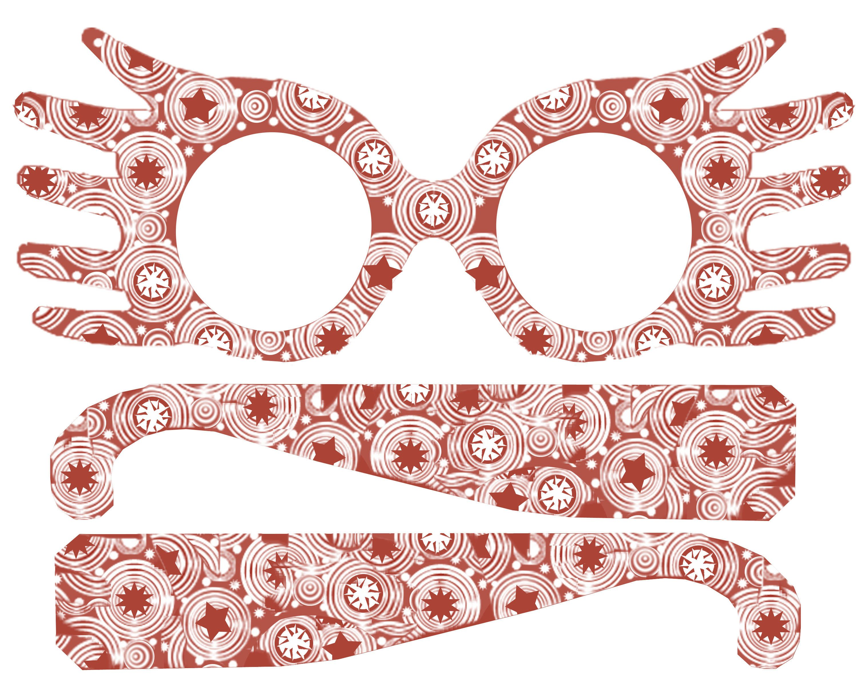 photo regarding Luna Lovegood Glasses Printable named Do-it-yourself Printable Luna Lovegood Spectrespecs Gles Harry