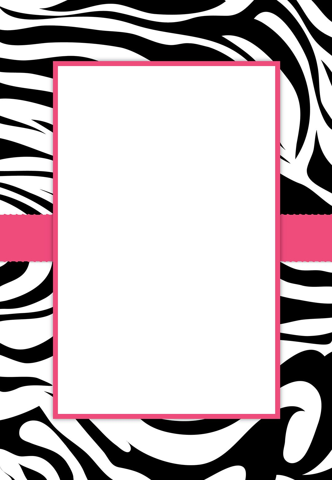 Free Printable Customizable Zebra Stripes Party Invitation PARTY