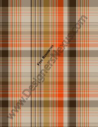 011- yarn-dye plaid fashion textile swatch orange-mustard colorway