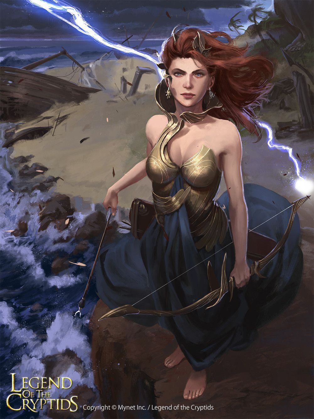 Artist: Diego Cunha - Title: stormbow goddess reg - Card: Storm-Piercing Rodilyte