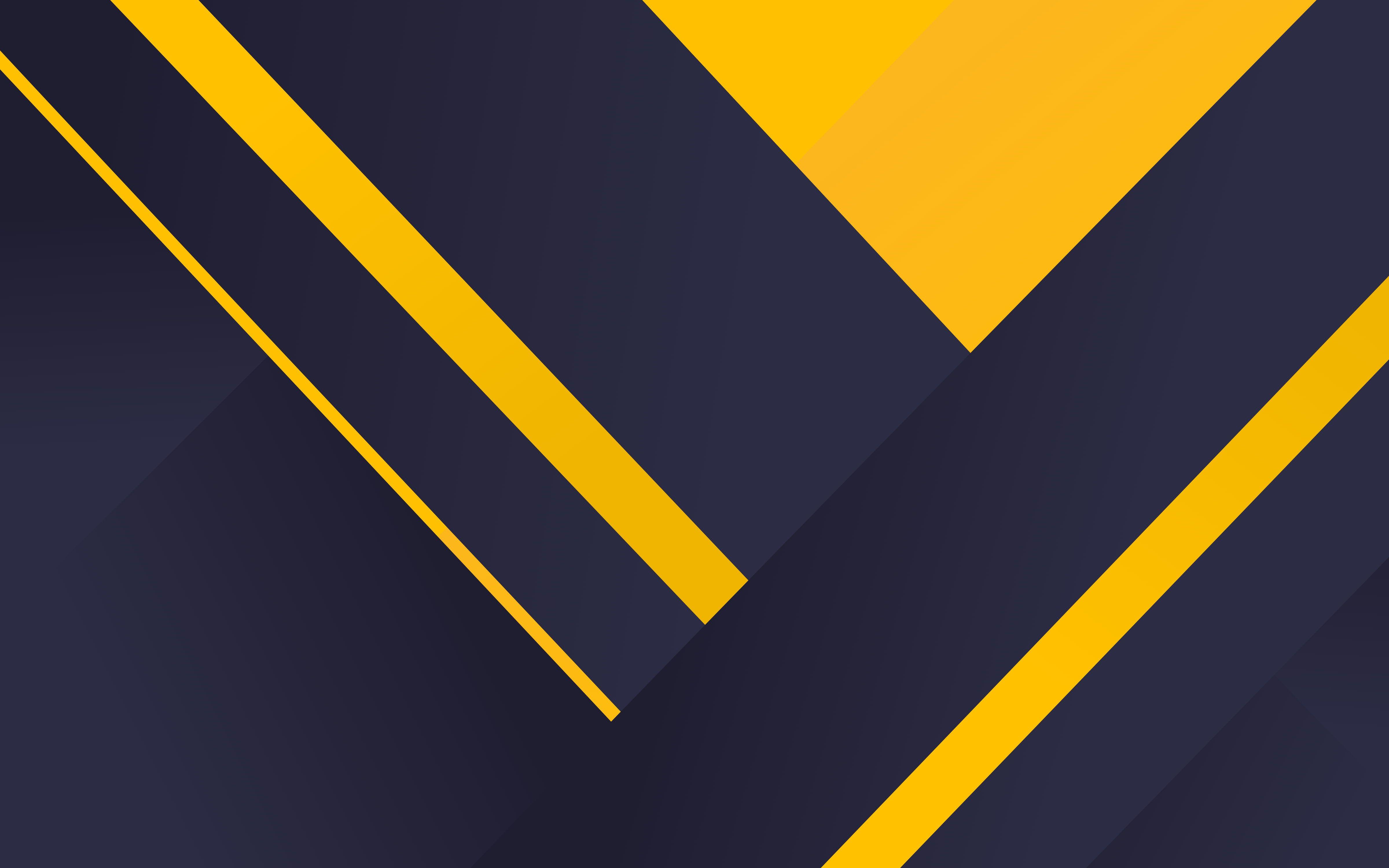 Dark Background Yellow Minimal Material 4k Geometric 4k Wallpaper Hdwallpaper Desktop In 2020 Geometric Background Abstract Wallpaper Dark Backgrounds
