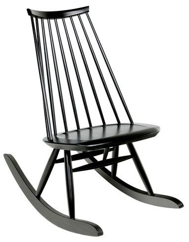 Mademoiselle Rocking Chair Black With Images Modern Rocking