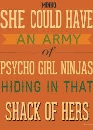 She could have had an army of psycho girl ninjas hiding in