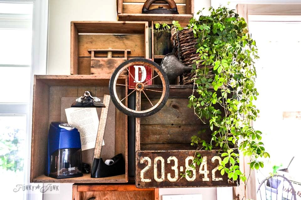 How would you repurpose these junk finds? #wallphone