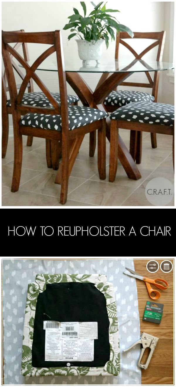 How to reupholster a chair | Pinterest | Aus alt mach neu, Holzkunst ...