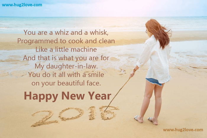 daughter in law new year wishes 2018