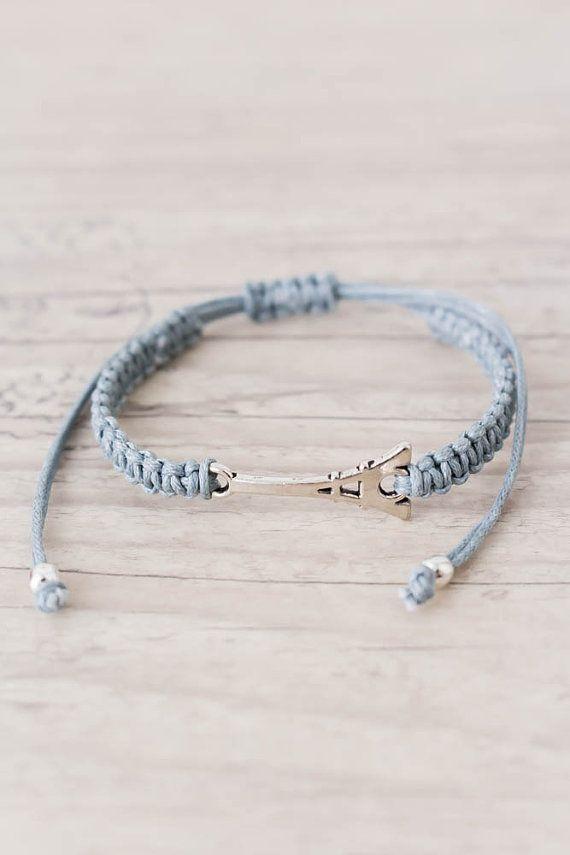5d06a6f8828a1 Macrame bracelet Eiffel tower bracelet Romantic gifts Friendship ...