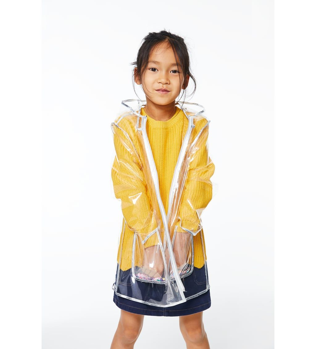 40107d1e7 TRANSPARENT RAINCOAT WITH SEQUINS-COATS AND JACKETS-GIRL | 5 - 14 ...