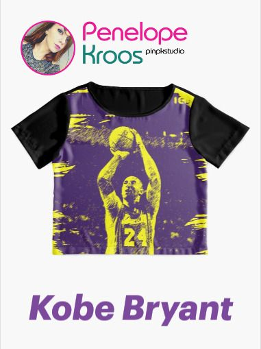 'Remember the basketball legend, violet and yellow style' Chiffon Top by pkstudio