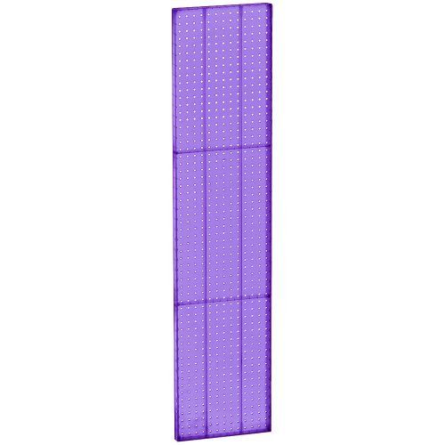 Azar 771360 Pur Pegboard 1 Sided Wall Panel Purple Translucent Color 2 Pack By Azar Displays 96 11 These Plastic Pegboard Display Wall Paneling Peg Board