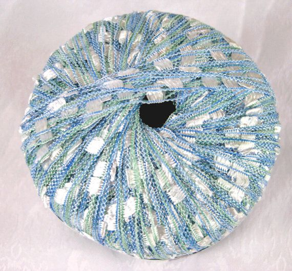 Berlini West Track II Ladder ribbon yarn Sea Breeze by crochetgal, $6.25