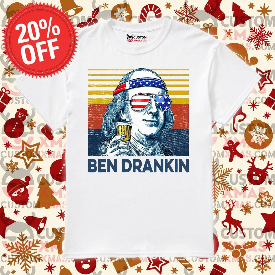 FAST shipping Ben Drankin drink independence day vintage