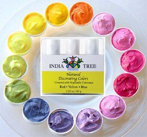 India Tree Natural Decorating Colours made from vegetable ...