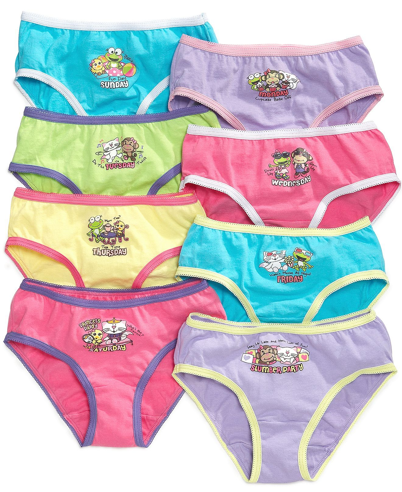 db2fb3dd0e69 So Jenni Kids Underwear, Girls 8-Pack Days of the Week - Kids - Macy's
