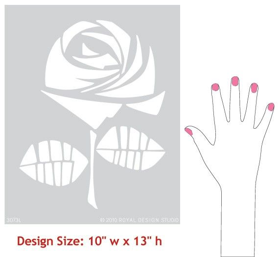 Large Rosie Stencil for Wall Decor and More por royaldesignstencils
