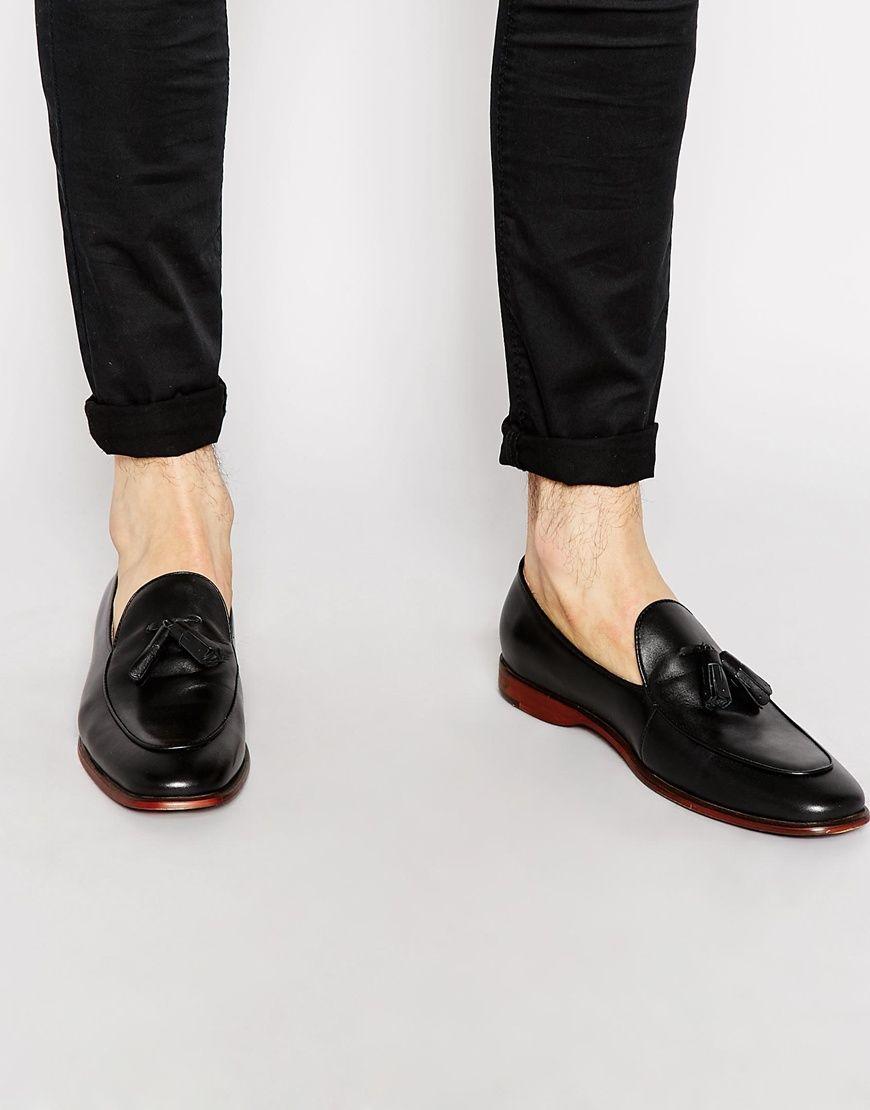 5e3cdf327a4 ALDO Miniera Leather Tassel Loafers