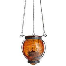 Medallion Hanging Lantern - Orange