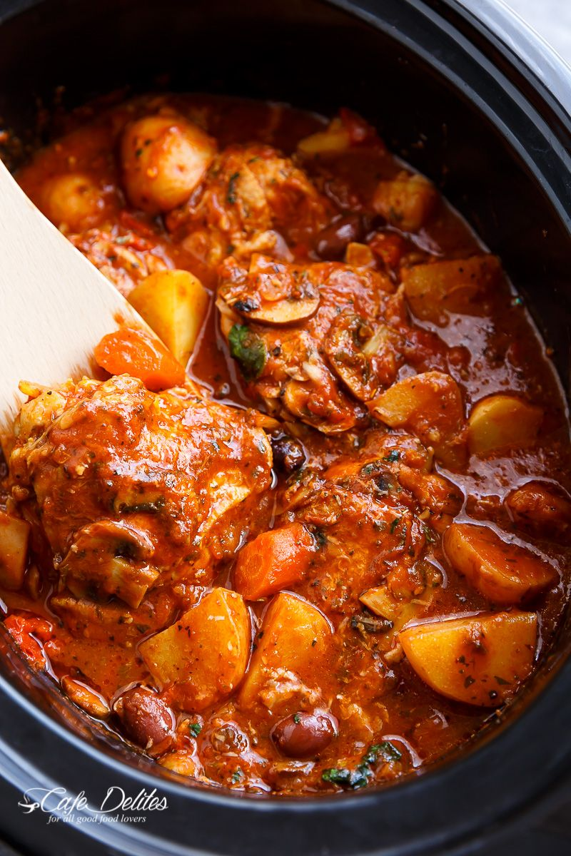 Slow Cooker Chicken Cacciatore With Potatoes Recipe In