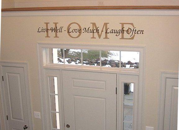 Home Custom Stencil Above Entry Way Walltowallstencils Com Door Decor Front