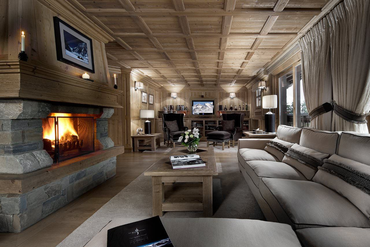 Chalet Tsuga Has A Skiinskiout Location In Courchevel 1850 And Amusing Large Living Room Design Design Ideas