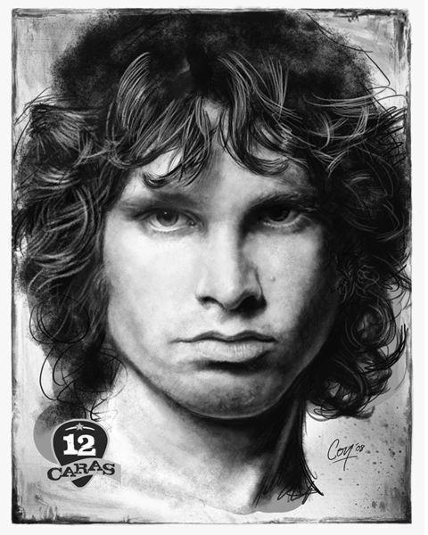 Jim Morrison 12caras Series Portrait Jim Morrison Cool Art Drawings