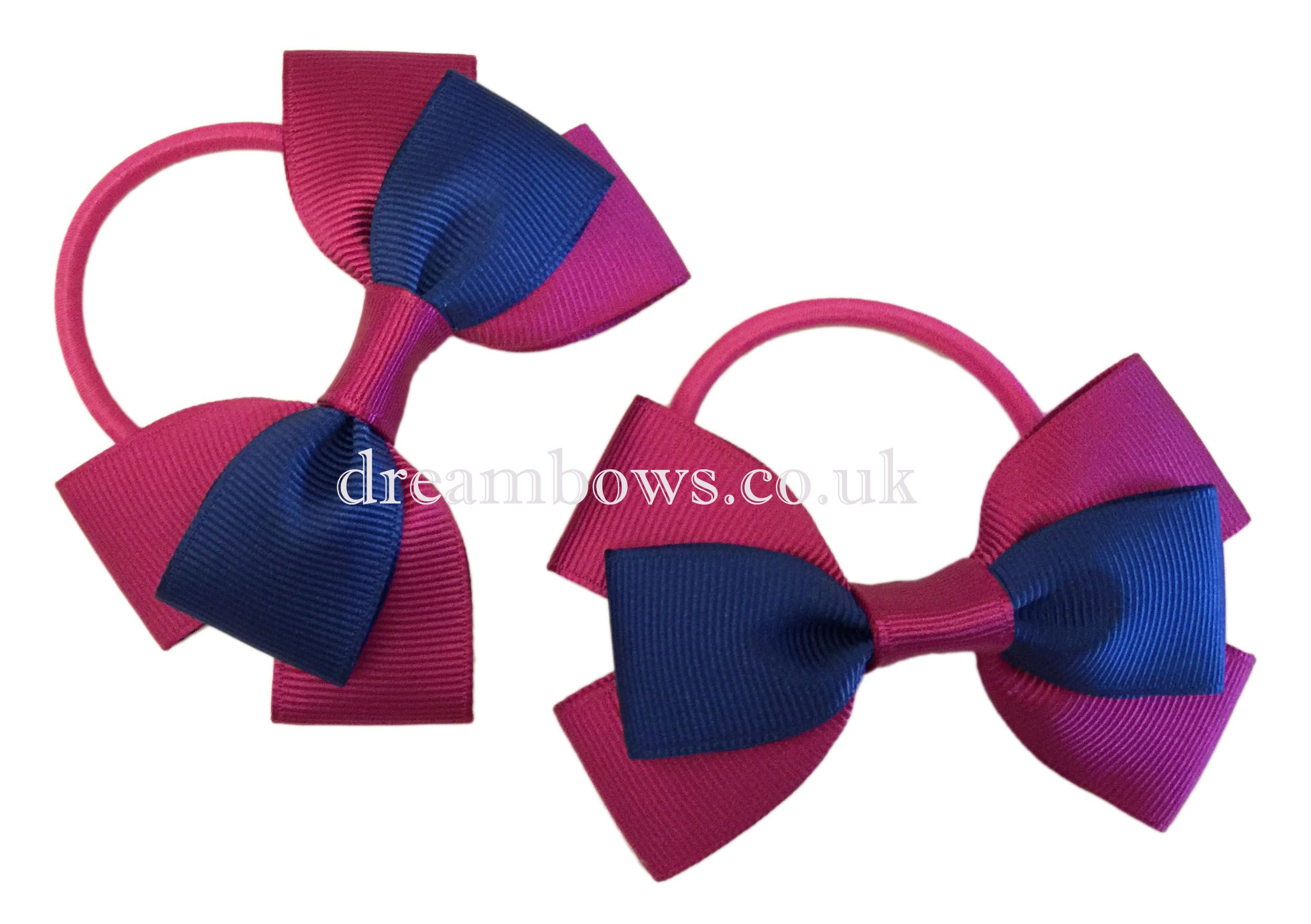 Girls grosgrain ribbon hair bows uk grosgrain bows thick bobbles