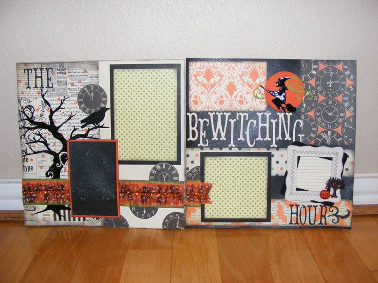 Made this page halloween scrapbook page scrapbook layouts