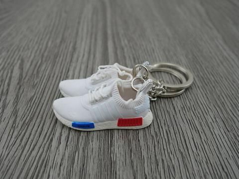 a4ac90f19 Mini Sneaker Keychains Adidas NMD white OG in 2019