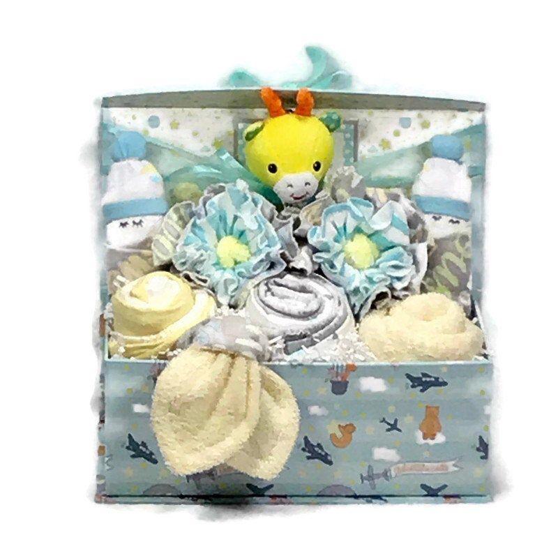 Baby boy gift basket new mom gift basket baby shower