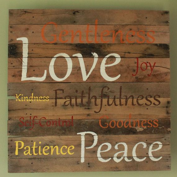 Religious Decor Fruits Of The Holy Spirit Inspirational Wall Hanging